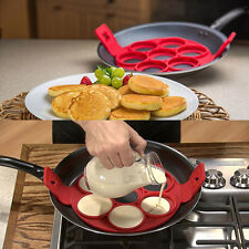 Silikonform Pancake Flippin' Mold Nonstick Backen Waffle Egg Cake Kuchen POP