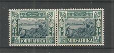 SOUTH AFRICA 1938 VOORTREKKER 1/2d + 1/2d BLUE & GREEN PAIR SG,76 M/M LOT 6304A