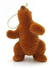 NEW MARTHA STEWART COLLECTION BROWN BEAR CHRISTMAS TREE FIGURINE ORNAMENT #02