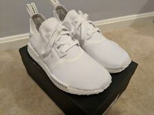 Adidas Mens NMD_R1 PK Japan Boost Athletic Sneakers sz 8.5 Triple White BZ0221