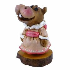 """Wee Forest Folk """"Miss Hippo"""" H-1s Forget-me-nots"""