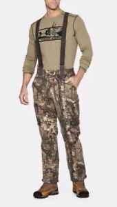 Under Armour Extreme Wool Hunting Pants Bibs RealTree Sz X Large XL 1297439 946