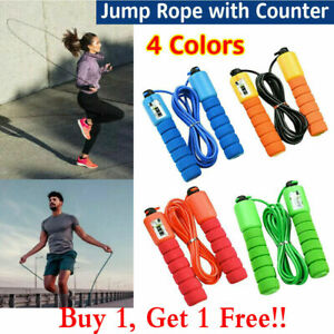 Quality Skipping Rope with counter Gym Home exercise fitness 2.8m Adult kid