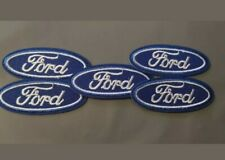 X4 Embroidered Sew-Iron on Badge/Patch FORD R/Blue Oval MOTORSPORT