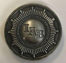 NYPD New York City Police Dept IAB Internal Affairs Bureau Silver Integrity Coin