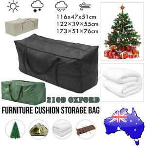 Storage Bag Black Extra Waterproof Large Christmas Cushion Tree Xmas Outdoor AU
