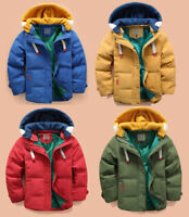 Toddler Kids Boys Winter Duck Down Coat Snowsuit Hooded Lightweight Jacket parka