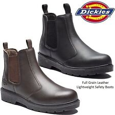 MENS DICKIES DEALER SAFETY LIGHTWEIGHT STEEL TOE CAP WIDE WORK BOOTS SHOES SIZE
