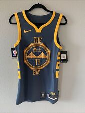 Nike GSW The Bay City Stitched Thompson 11 Authentic Jersey AH6209-430. Size 40
