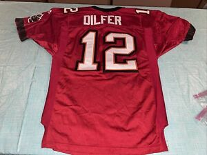 Vtg Tampa Bay Buccaneers #12 Dilfer Adidas Pro Line authentic Jersey. Size 46