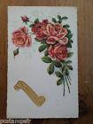 CPA fantaisie - thème FLEURS, ROSES, POSTAL CARD, FLOWERS, VF, BONNE FETE