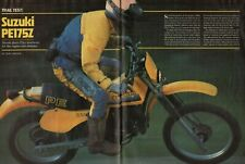 1982 Suzuki PE175Z - 7-Page Vintage Motorcycle Test Article