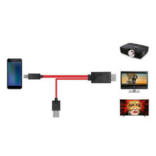 Micro USB To HDMI 1080P Cable TV AV Adapter Cable Cord Mobile Phone HDTV 2M