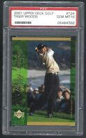 Tiger Woods ROOKIE PSA 10 Gem Mint 2001 Upper Deck Golf #124