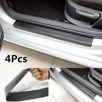 4Pcs 3D Carbon Fiber Anti Scratch Car Door Plate Sticker Sill Scuff Cover