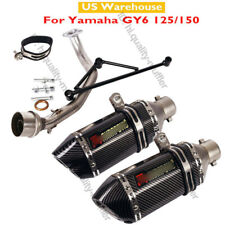 Motorcycle Exhaust Link Pipe Front Header Connector Pipe for Yamaha GY6 150 125