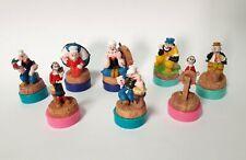 Braccio di Ferro Serie Completa 8 Personaggi Timbrini Popeye Globo