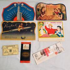 Vintage Needle Books Lot of 5 Sewing needles Japan Germany