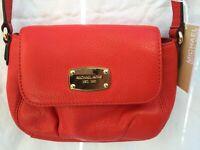 NWT MICHAEL KORS Jet Set Item Mandarin Small Flap Crossbody Bag Purse Leather