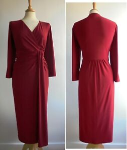 LONG TALL SALLY Red Jersey Pencil Dress Size 16