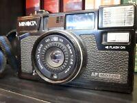 MINOLTA HI MATIC AF2 35mm FILM CAMERA f/2.8 AF Auto Focus Point & Shoot