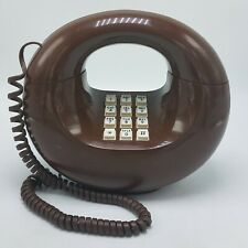 Western Electric Sculptura TouchTone Desk Telephone Brown - TESTED