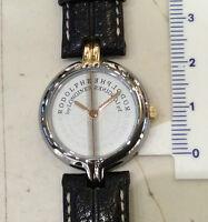 Longines Rodolphe donna orologio quarzo nuovo anni 80 acciaio pelle mm 22