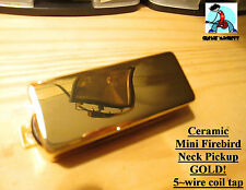G.M. Mini Firebird Neck Pickup Ceramic 5 Magnets Gold