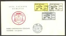 Vatican City Sc# 247-9: Sede Vacante 1958 on FDC
