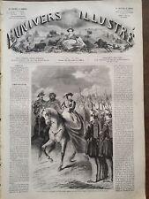 L' UNIVERS ILLUSTRE 1861 N 184 LA REINE D' ESPAGNE  ET MULEY-ABBAS