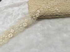 4.5cm width Beautiful Creamy White Venise Flower Lace Trim Per Meter Sewing DIY