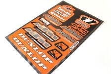 Neu! KTM Aufkleber Sticker Set Dekor Satz Dunlop Duke LC 2 4 EXC MX Motorrad #32