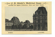 Stiefel's Medicinal Soap trade card - early pic of Louvre in Paris
