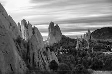 Black and White Photography Print of Garden of the Gods in Colorado