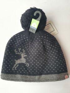 Borjesson Sweden Extra Warm Winter Wool Blend Beanie Hat - Size M