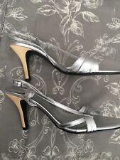 ❤️Principles❤️Silver High Heel Sandals Size 6