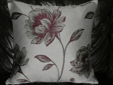 "18"" PURPLE FLORAL CUSHION COVER MADE WITH DUNELM FABRIC"