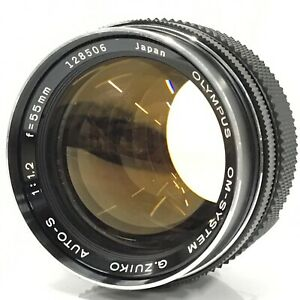 Olympus OM-System G.Zuiko Auto-S 55mm f/1.2 Lens From Japan - Excellent+5 [TK]