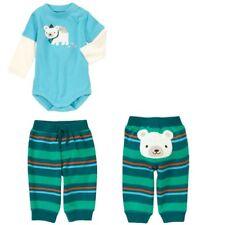 Gymboree Snow Bear 6-12 mo Blue One Piece & Striped Pants Set Green Orange 2013