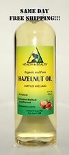 HAZELNUT OIL by H&B Oils Center ORGANIC CARRIER COLD PRESSED 100% PURE 16 OZ