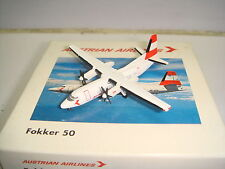 "Herpa Wings 500 Austrian Airlines Fokker F-50 ""Early 1990s color"" 1:500 Ng"