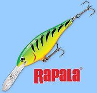 "Rapala FireTiger Shad Rap Balsa Hardbait Deep Diving 2.75"" Fishing Lure #SR07 FT"