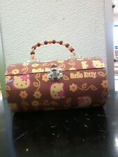Hello Kitty Sanrio brown tin purse with beaded handle