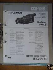 Service Manual sony ccd-v88e video 8 Handycam, original