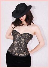 Exklusive Korsett Evita Dragon von Nylonessa  in schwarz/gold