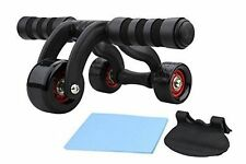 3 Wheel Ab Roller Fitness Abdominal Muscle Workout Training System Gym Exerciser