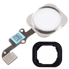 For iPhone 6S 6S Plus Home Button White & Silver Menu Button With Flex Cable