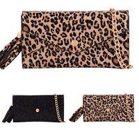 Women Leopard Print Wallet Purse Ladies Faux Leather Mini Clutch Bag New UK