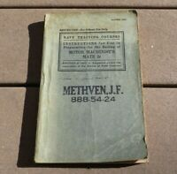 WW2 Navy Training Courses Preparation for Rating Motor Machinist Mate 2c Book