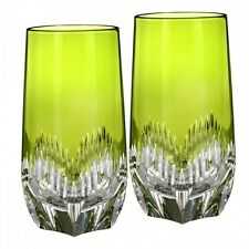WATERFORD  Mixology Neon Green HIBALL Pair Set of Two Brand New #162827